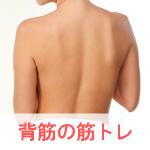 背筋と肩甲骨が美し女性の画像