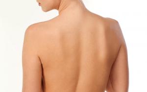 女性の美し肩甲骨の画像