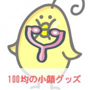 100均の小顔グッズをヒヨコが紹介しているイラスト