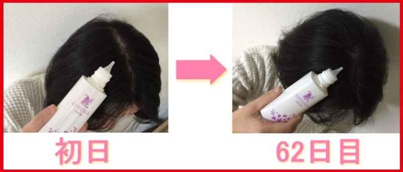 ルルシアシャルムを使用した比較写真